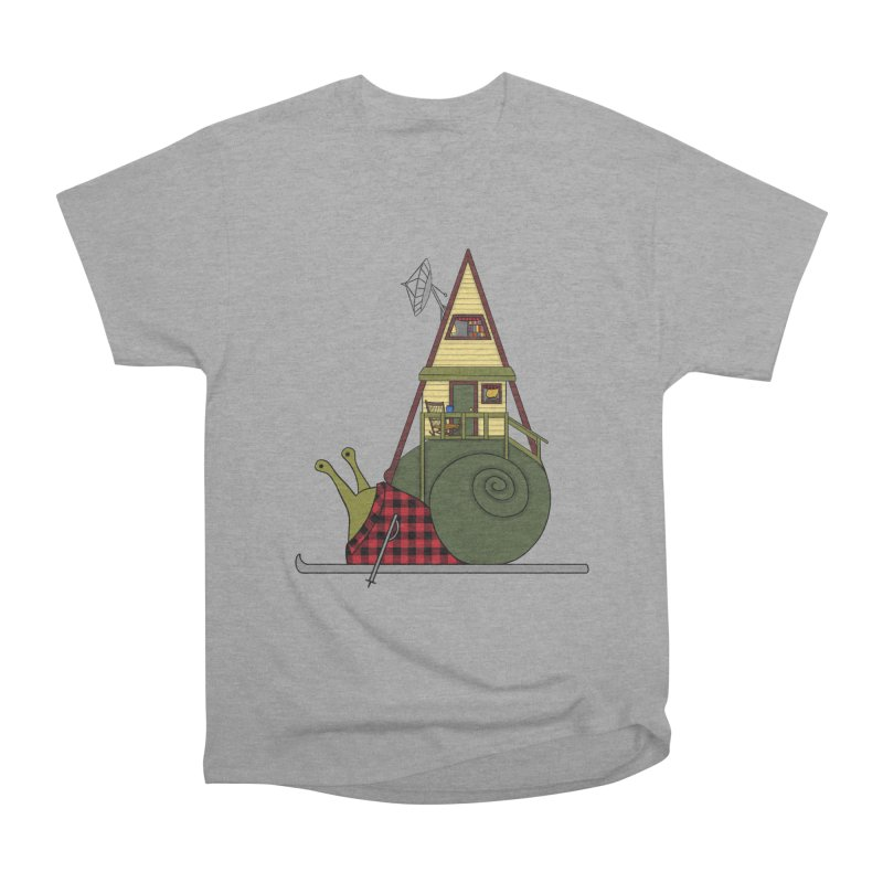 A-Frame Snail Women's Heavyweight Unisex T-Shirt by The Art of Rosemary