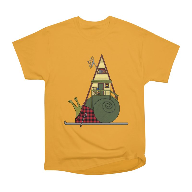 A-Frame Snail Men's Heavyweight T-Shirt by The Art of Rosemary