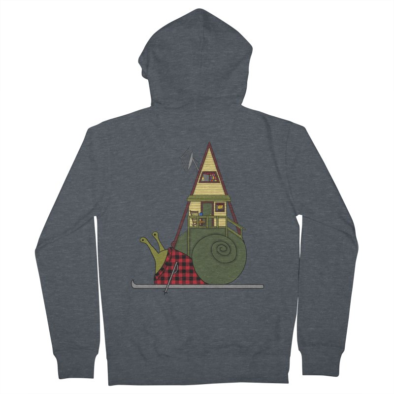 A-Frame Snail Women's French Terry Zip-Up Hoody by The Art of Rosemary