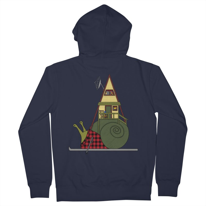 A-Frame Snail Men's French Terry Zip-Up Hoody by The Art of Rosemary