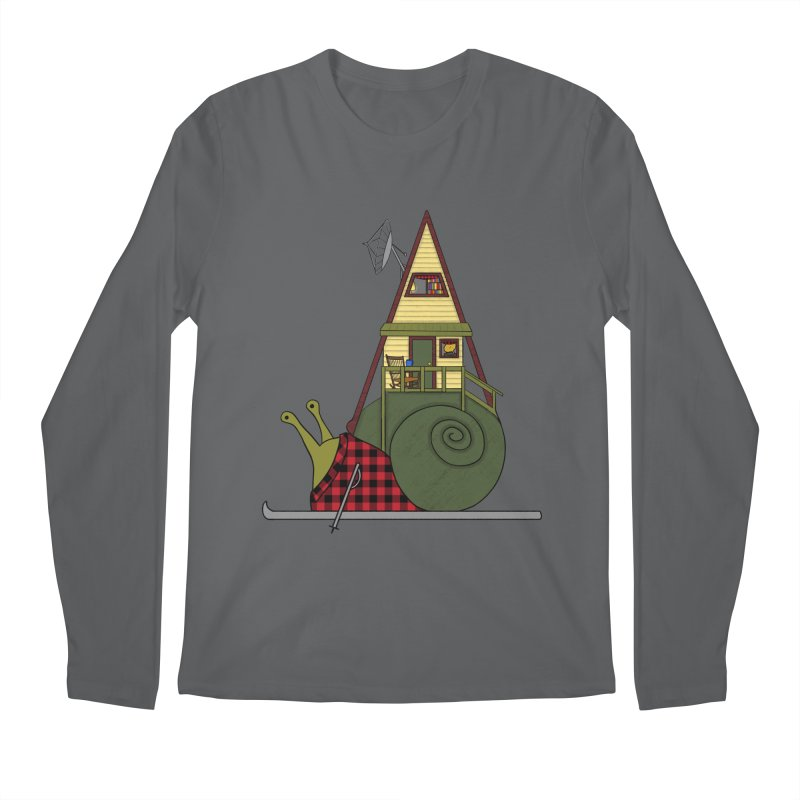 A-Frame Snail Men's Regular Longsleeve T-Shirt by The Art of Rosemary