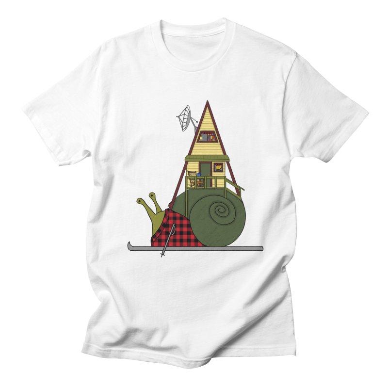 A-Frame Snail Men's Regular T-Shirt by The Art of Rosemary