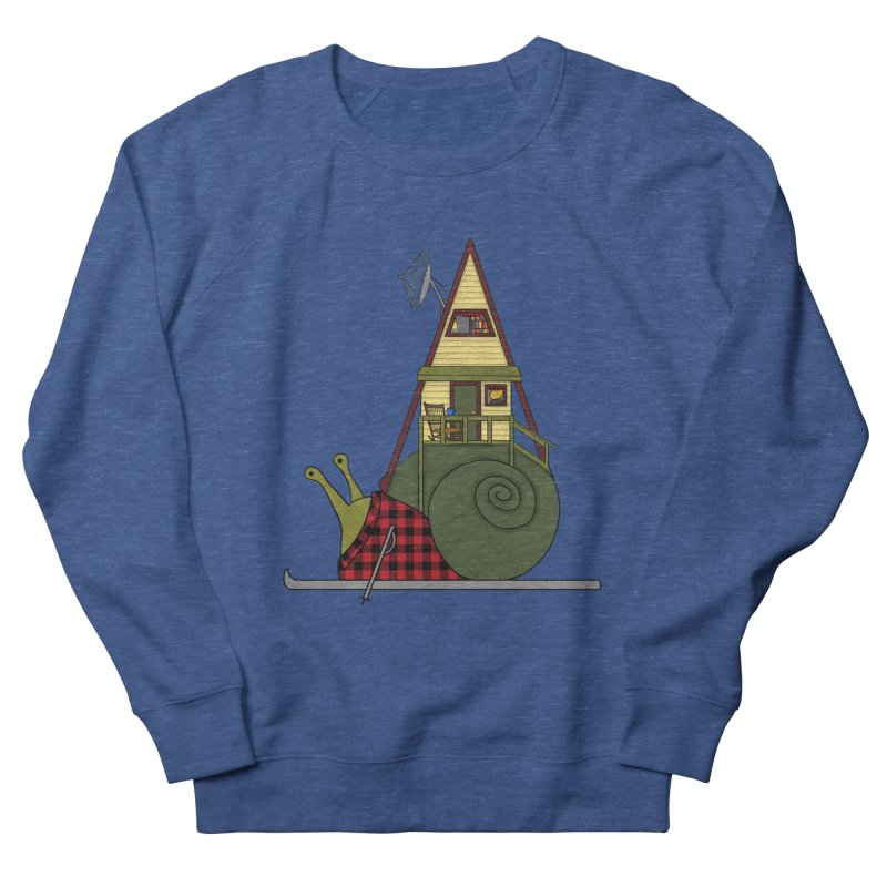 A-Frame Snail Men's French Terry Sweatshirt by The Art of Rosemary