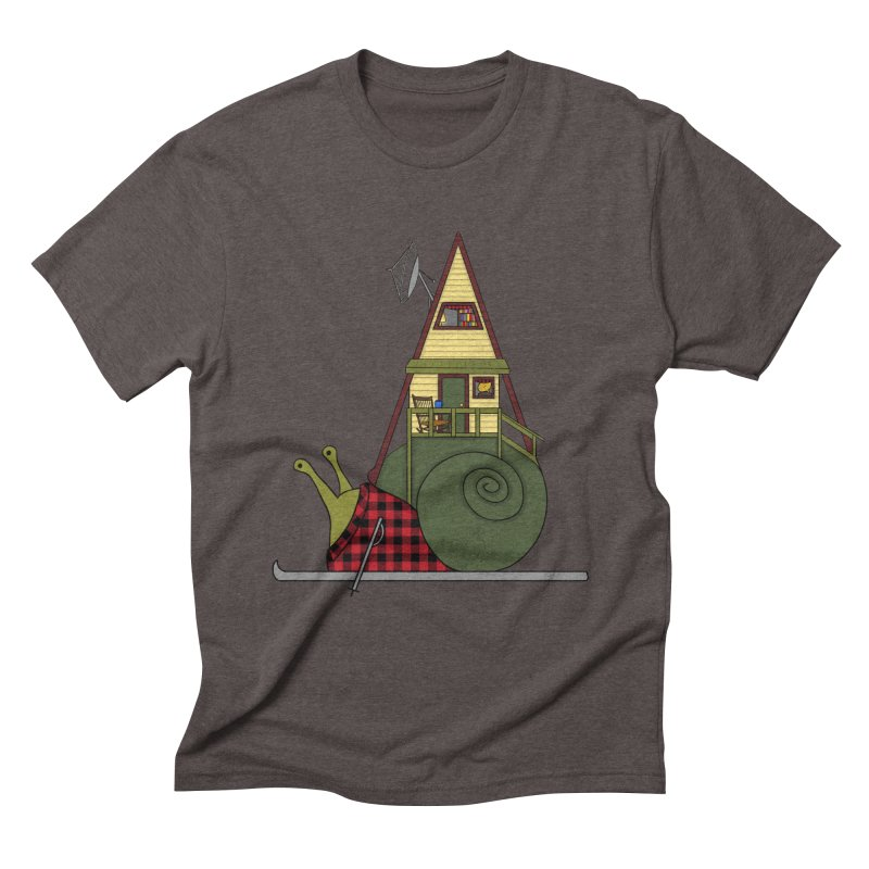 A-Frame Snail Men's Triblend T-Shirt by The Art of Rosemary