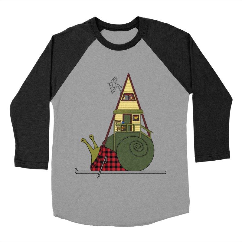 A-Frame Snail Women's Baseball Triblend Longsleeve T-Shirt by The Art of Rosemary