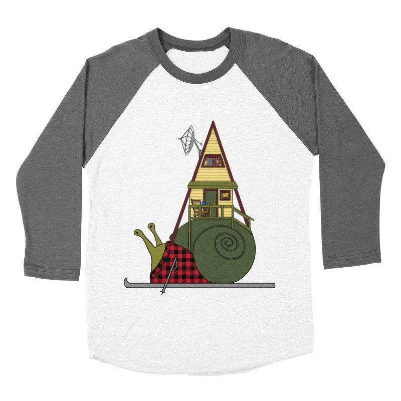 A-Frame Snail Men's Baseball Triblend Longsleeve T-Shirt by The Art of Rosemary