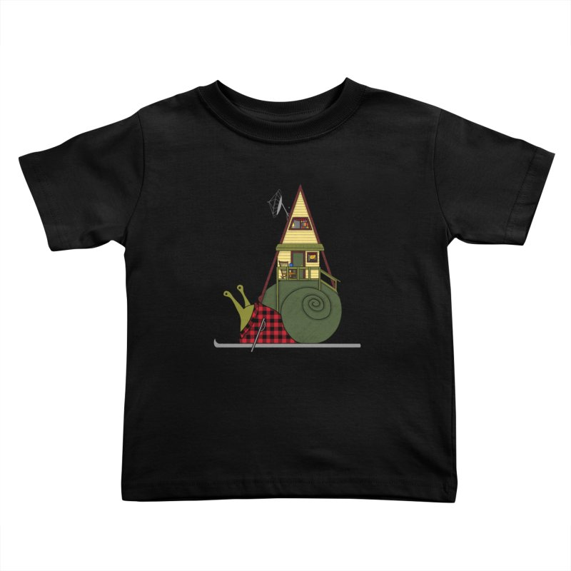 A-Frame Snail Kids Toddler T-Shirt by The Art of Rosemary