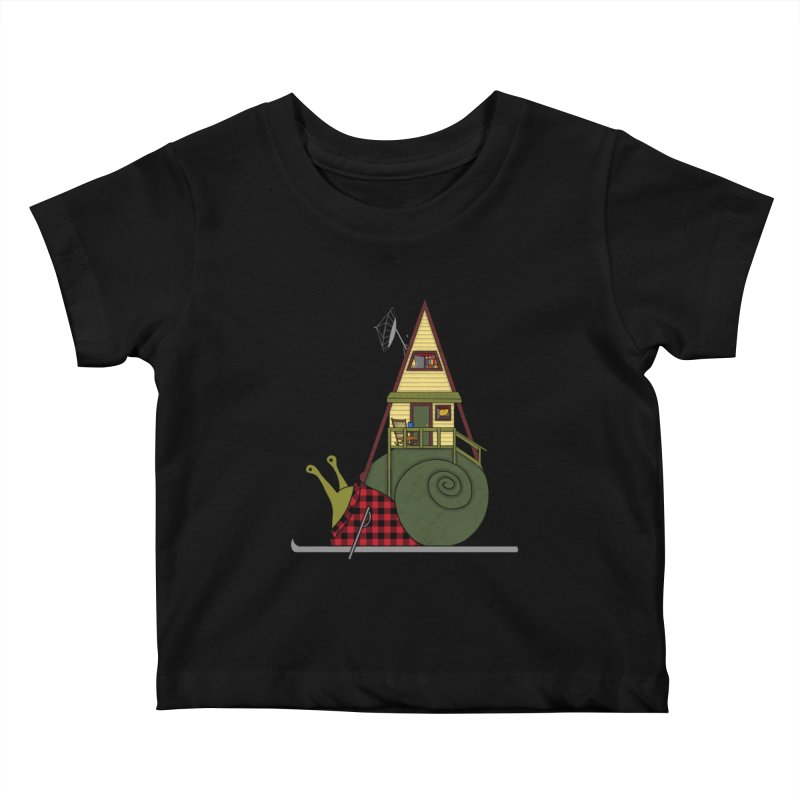 A-Frame Snail Kids Baby T-Shirt by The Art of Rosemary