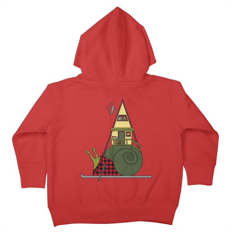 A-Frame Snail Kids Toddler Zip-Up Hoody by The Art of Rosemary