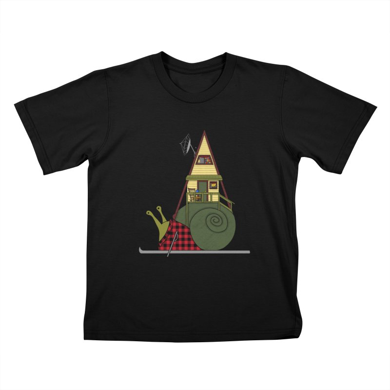 A-Frame Snail Kids T-Shirt by The Art of Rosemary