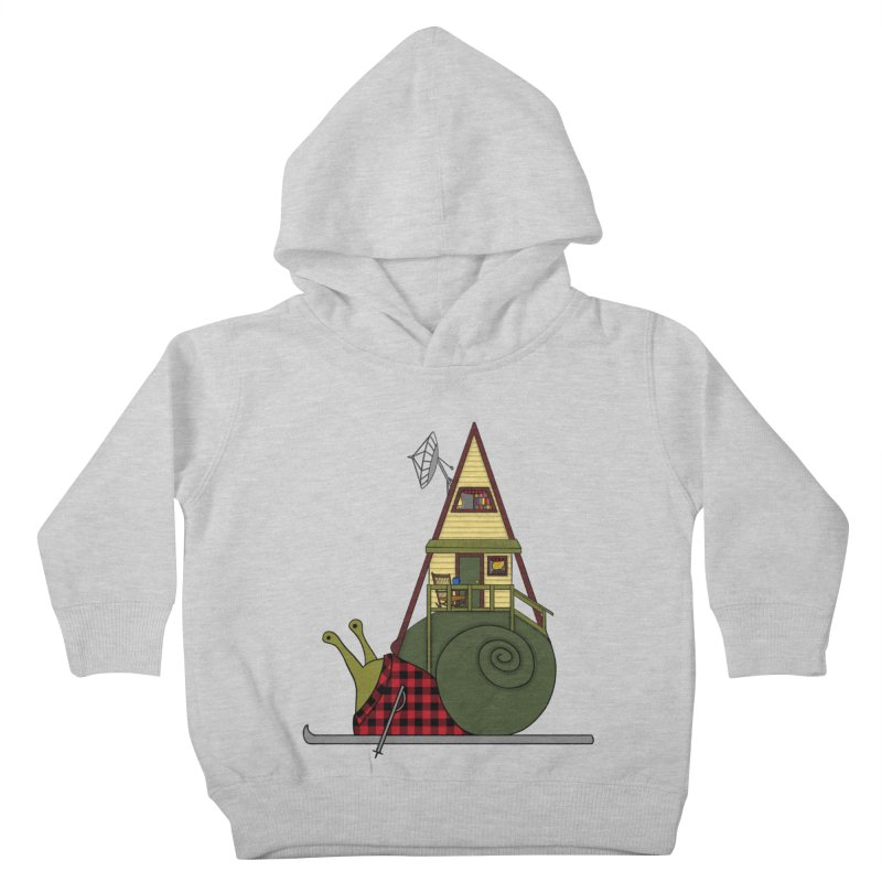 A-Frame Snail Kids Toddler Pullover Hoody by The Art of Rosemary