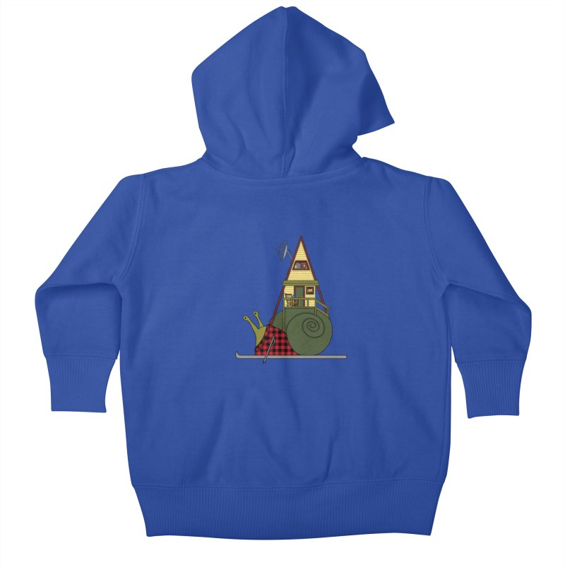 A-Frame Snail Kids Baby Zip-Up Hoody by The Art of Rosemary
