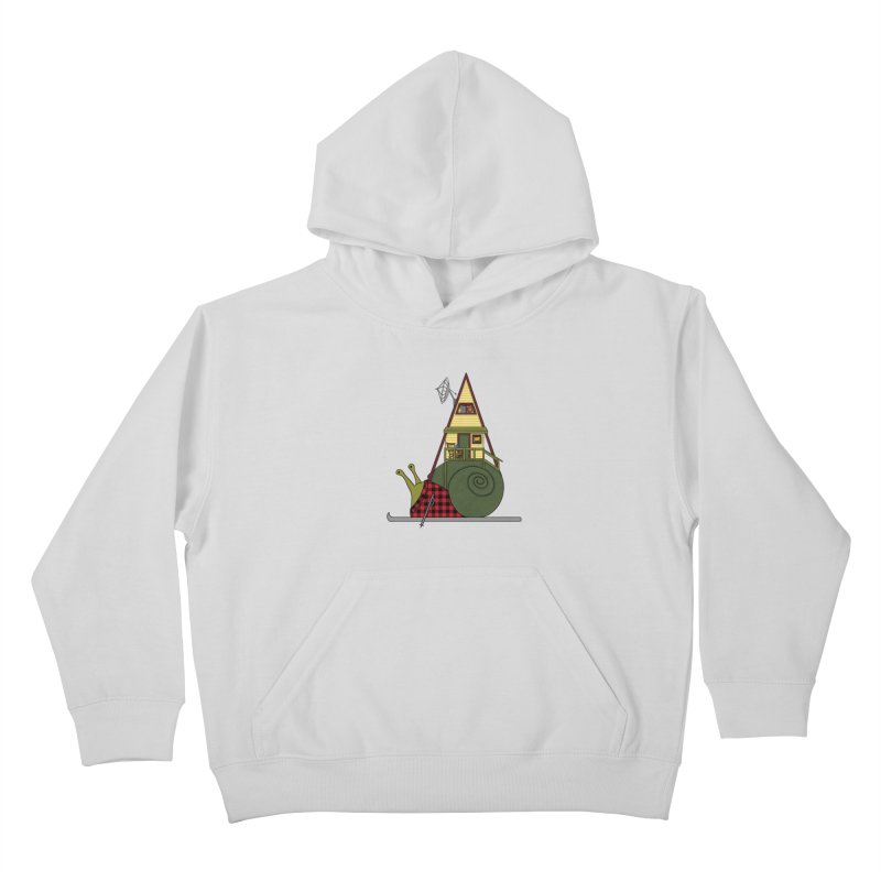 A-Frame Snail Kids Pullover Hoody by The Art of Rosemary