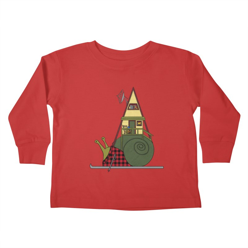 A-Frame Snail Kids Toddler Longsleeve T-Shirt by The Art of Rosemary