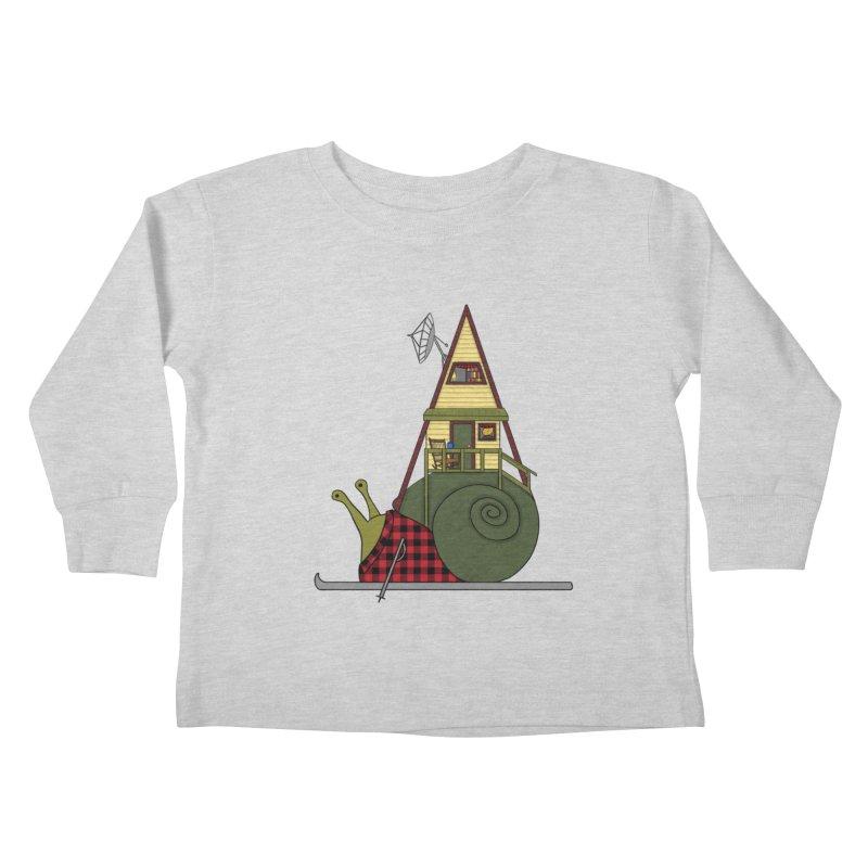 A-Frame Snail Kids Toddler Longsleeve T-Shirt by The Art of Rosemary