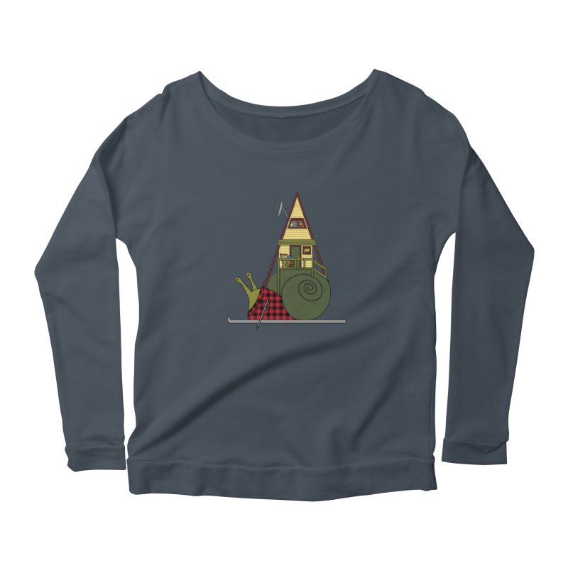 A-Frame Snail Women's Scoop Neck Longsleeve T-Shirt by The Art of Rosemary