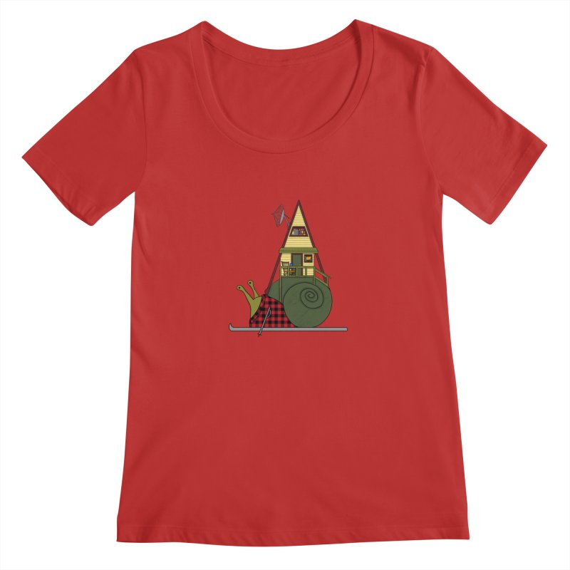 A-Frame Snail Women's Regular Scoop Neck by The Art of Rosemary
