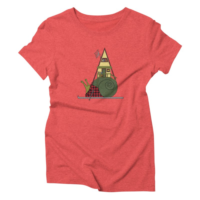 A-Frame Snail Women's Triblend T-Shirt by The Art of Rosemary