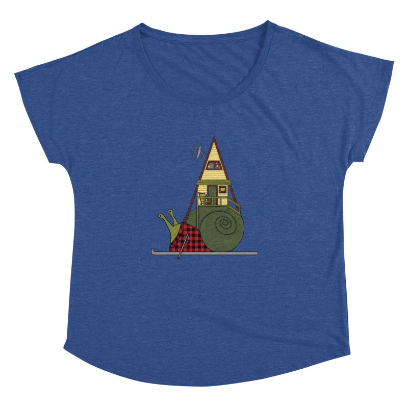 A-Frame Snail Women's Dolman Scoop Neck by The Art of Rosemary