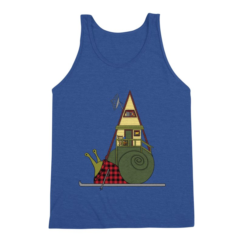 A-Frame Snail Men's Triblend Tank by The Art of Rosemary