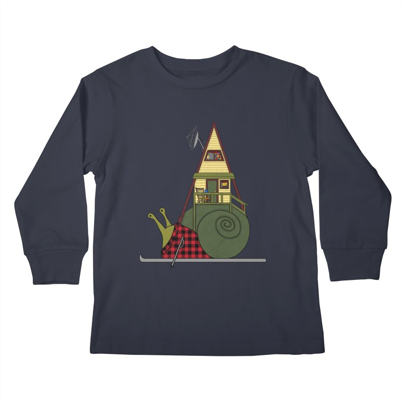 A-Frame Snail Kids Longsleeve T-Shirt by The Art of Rosemary