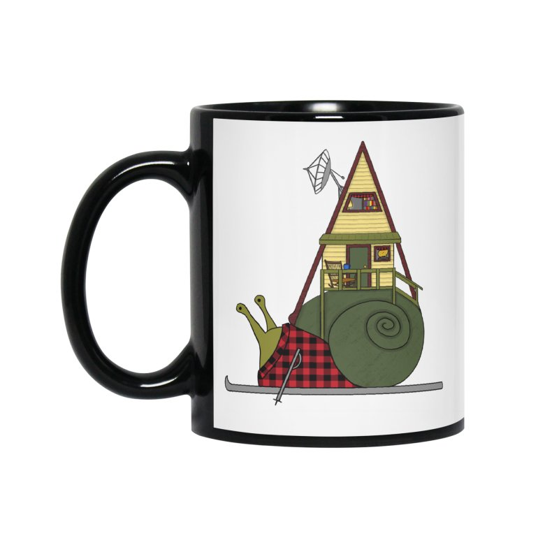 A-Frame Snail Accessories Mug by The Art of Rosemary