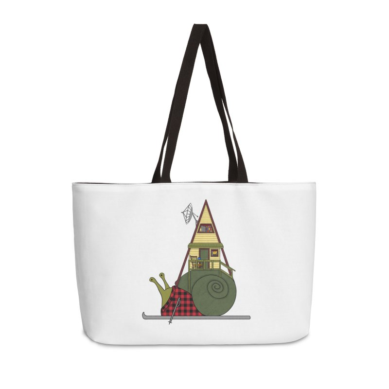 A-Frame Snail Accessories Weekender Bag Bag by The Art of Rosemary