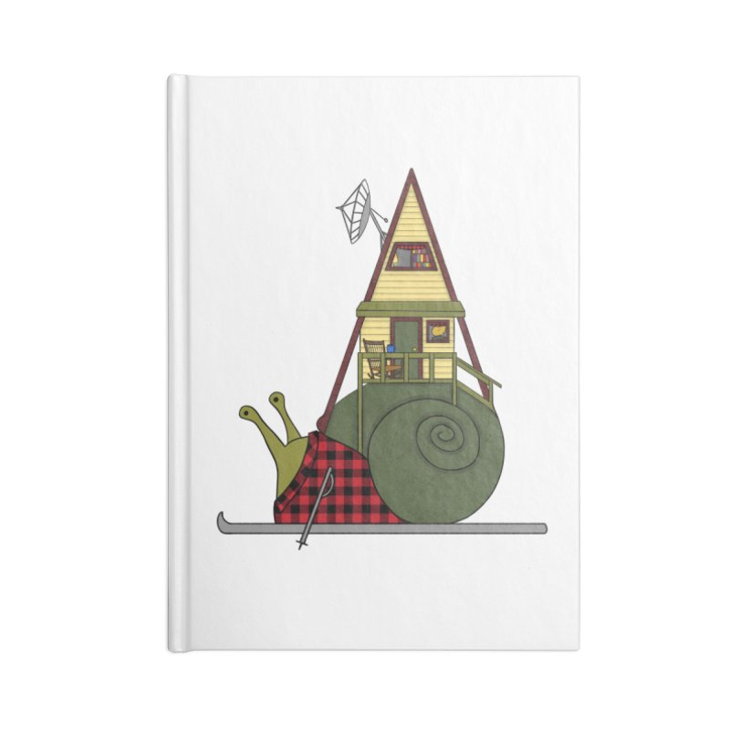 A-Frame Snail Accessories Lined Journal Notebook by The Art of Rosemary