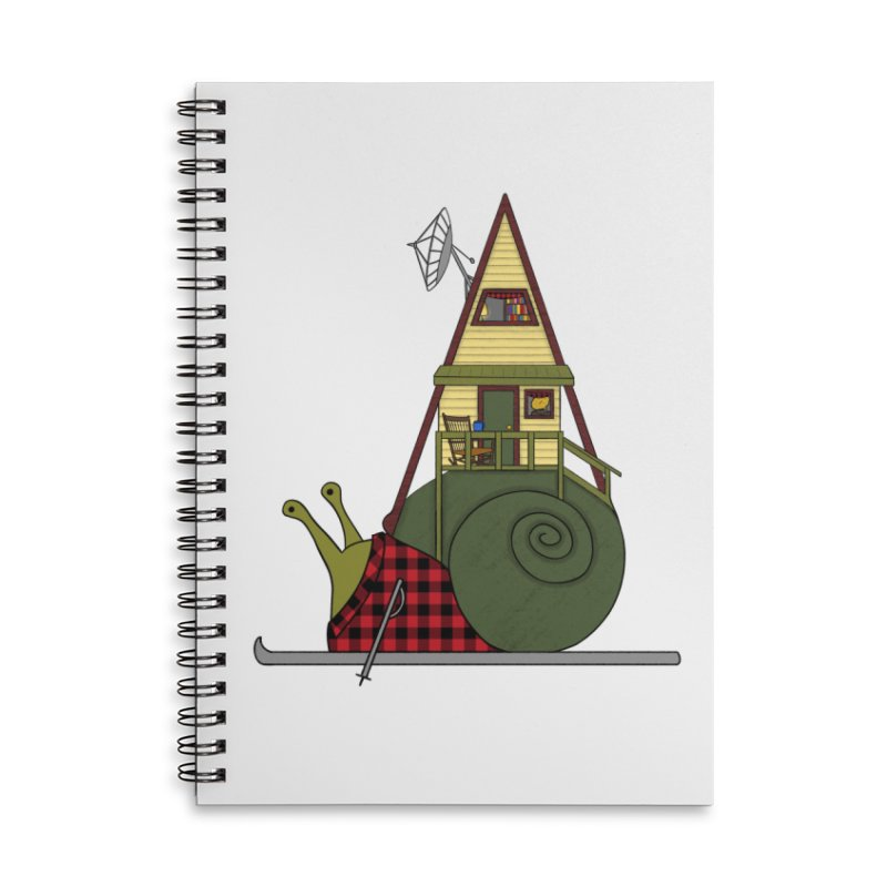 A-Frame Snail Accessories Lined Spiral Notebook by The Art of Rosemary