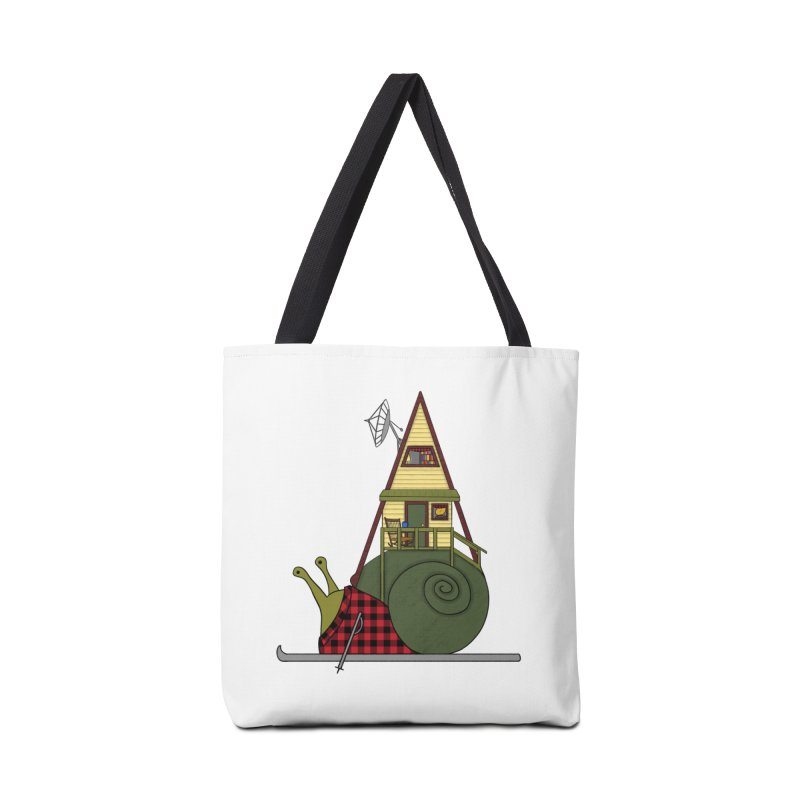 A-Frame Snail Accessories Tote Bag Bag by The Art of Rosemary