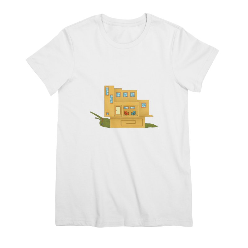 Mod Snail Women's Premium T-Shirt by The Art of Rosemary