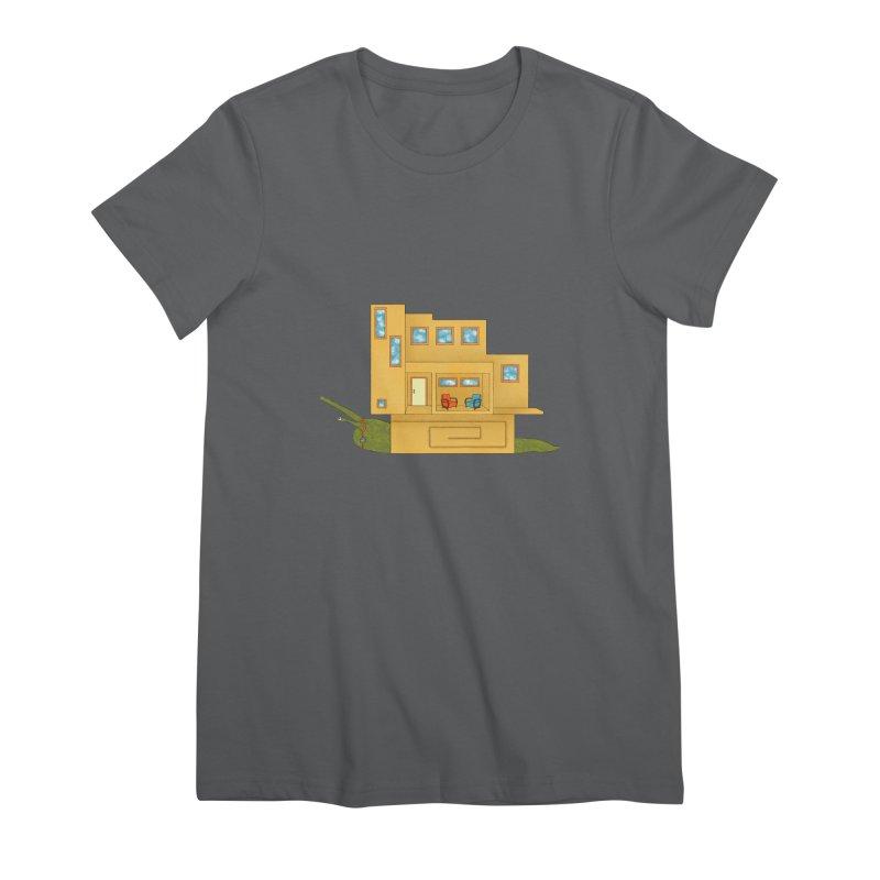 Mod Snail Women's Premium T-Shirt by The Art of Rosemary