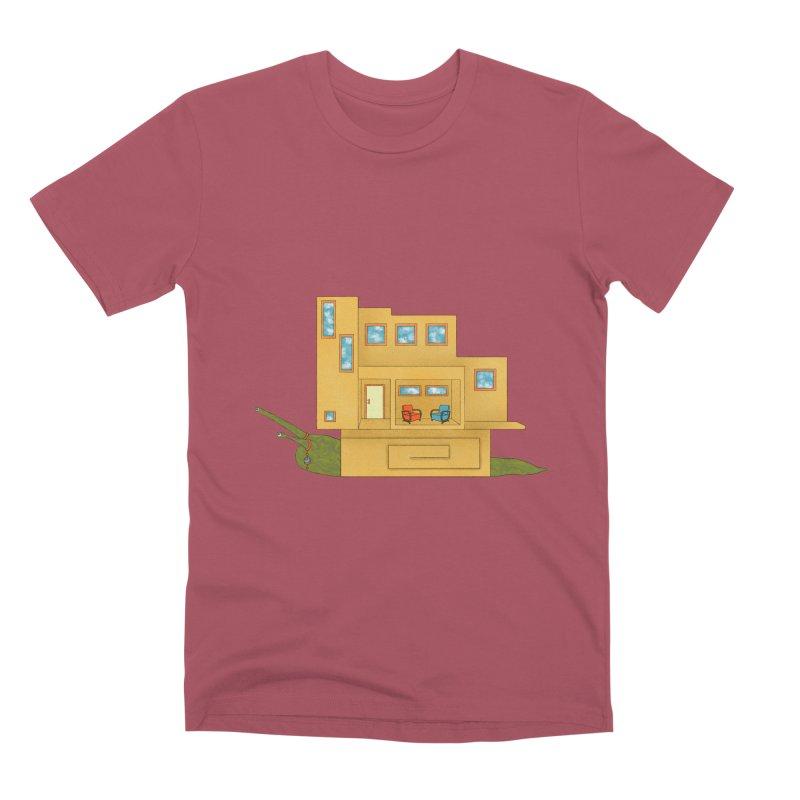 Mod Snail Men's Premium T-Shirt by The Art of Rosemary