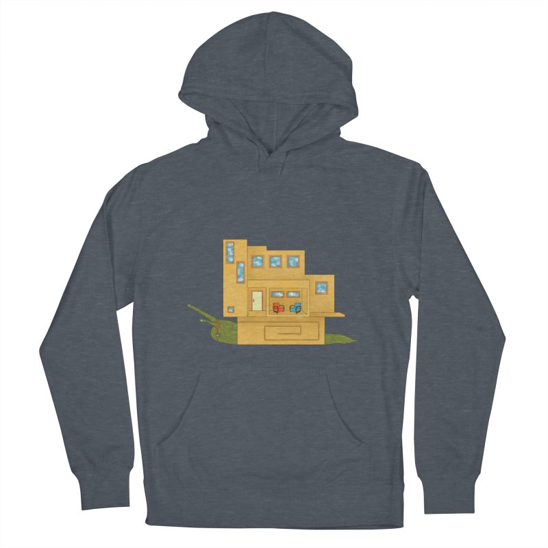 Mod Snail Men's French Terry Pullover Hoody by The Art of Rosemary