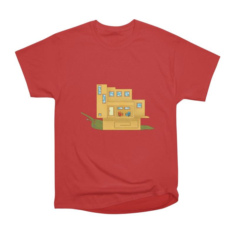 Mod Snail Men's Heavyweight T-Shirt by The Art of Rosemary