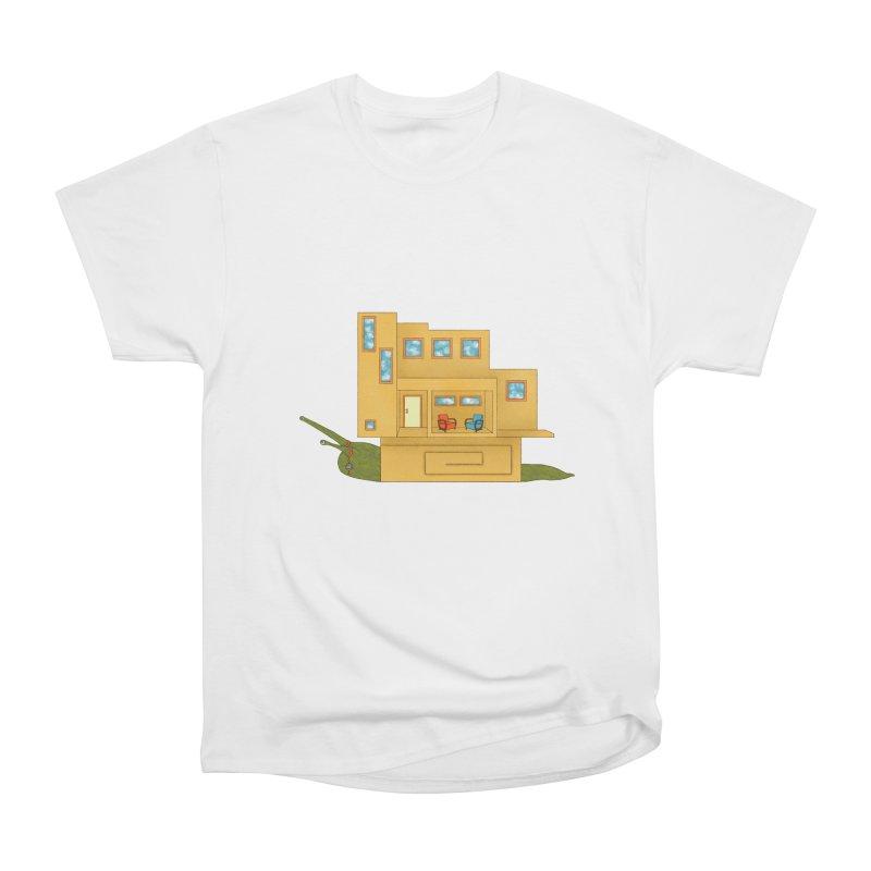 Mod Snail Women's Heavyweight Unisex T-Shirt by The Art of Rosemary