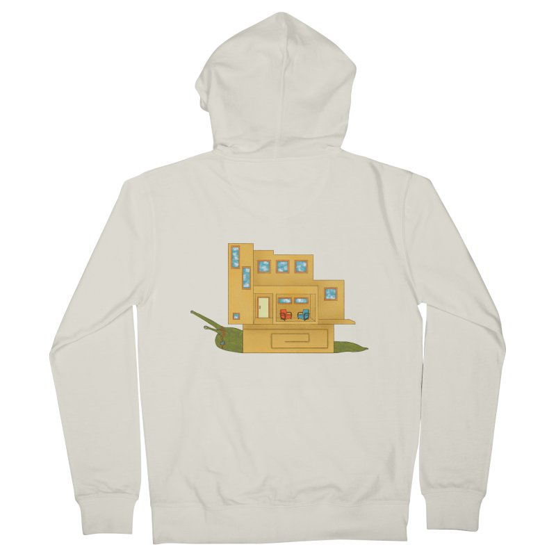 Mod Snail Men's French Terry Zip-Up Hoody by The Art of Rosemary