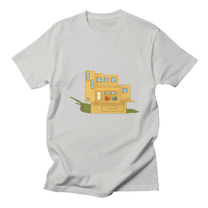 Mod Snail Men's Regular T-Shirt by The Art of Rosemary