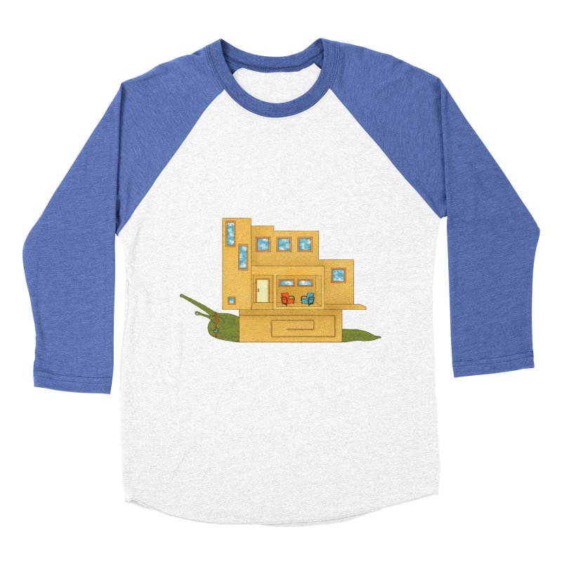Mod Snail Men's Baseball Triblend Longsleeve T-Shirt by The Art of Rosemary