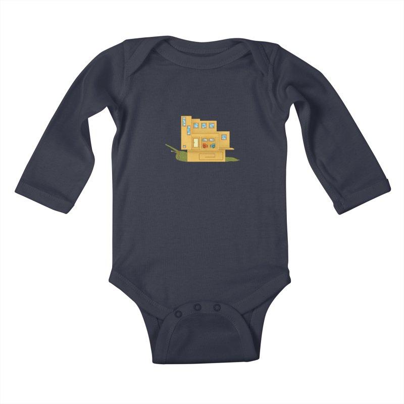 Mod Snail Kids Baby Longsleeve Bodysuit by The Art of Rosemary