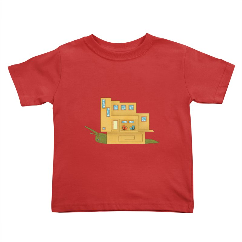 Mod Snail Kids Toddler T-Shirt by The Art of Rosemary