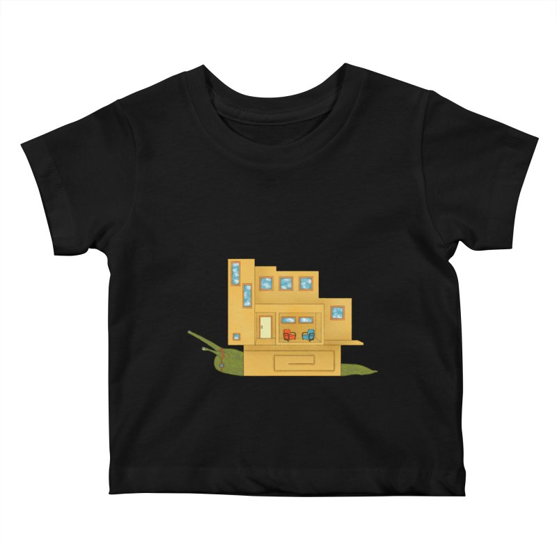 Mod Snail Kids Baby T-Shirt by The Art of Rosemary
