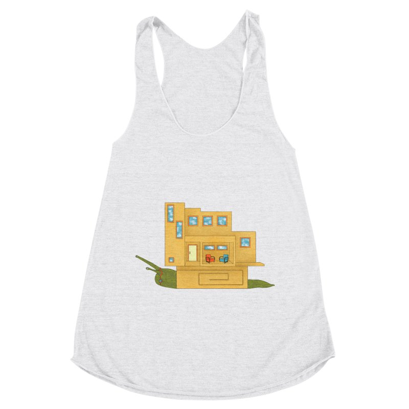 Mod Snail Women's Racerback Triblend Tank by The Art of Rosemary