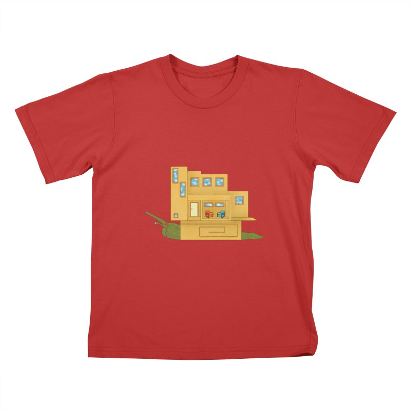 Mod Snail Kids T-Shirt by The Art of Rosemary