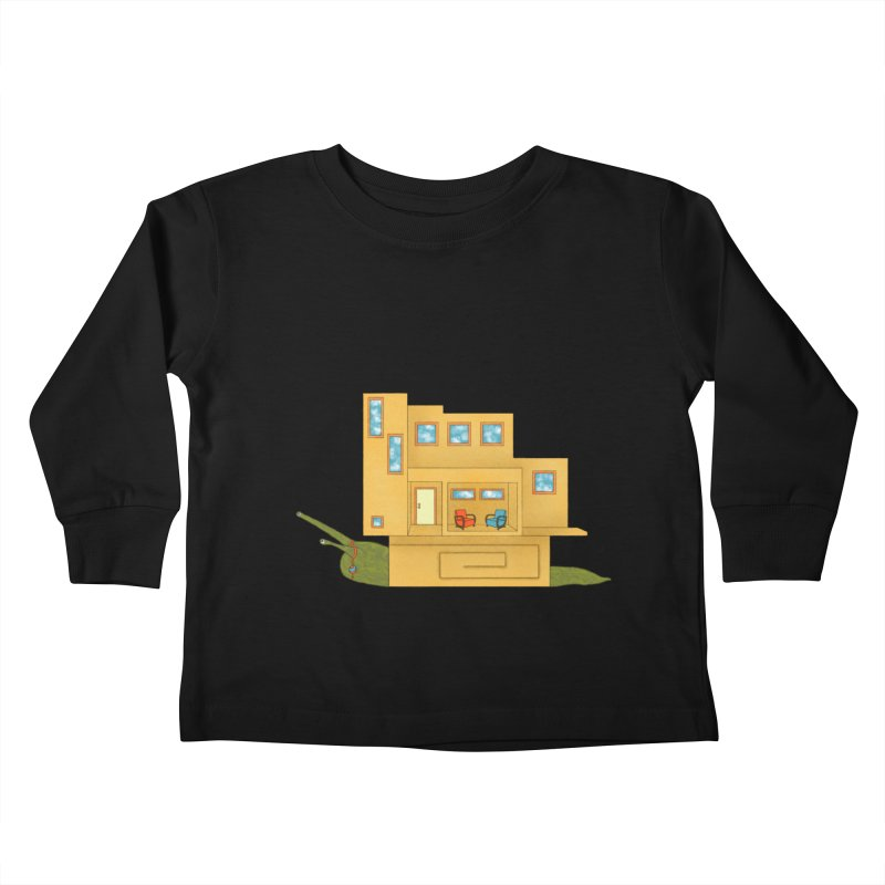 Mod Snail Kids Toddler Longsleeve T-Shirt by The Art of Rosemary