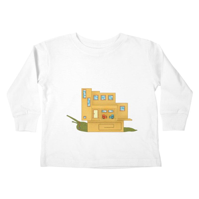Mod Snail Kids Toddler Longsleeve T-Shirt by The Art of Rosemary