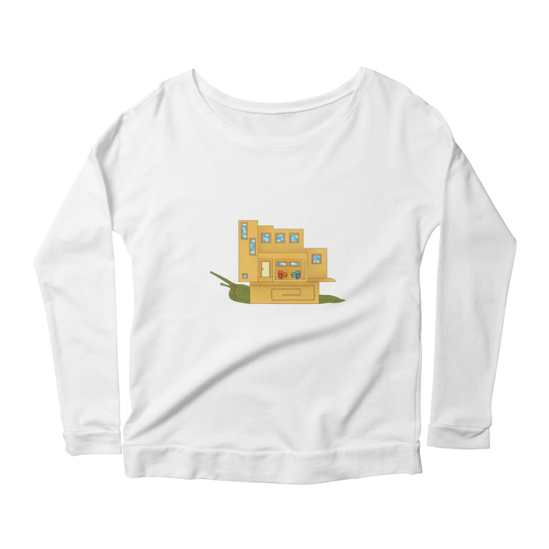 Mod Snail Women's Scoop Neck Longsleeve T-Shirt by The Art of Rosemary