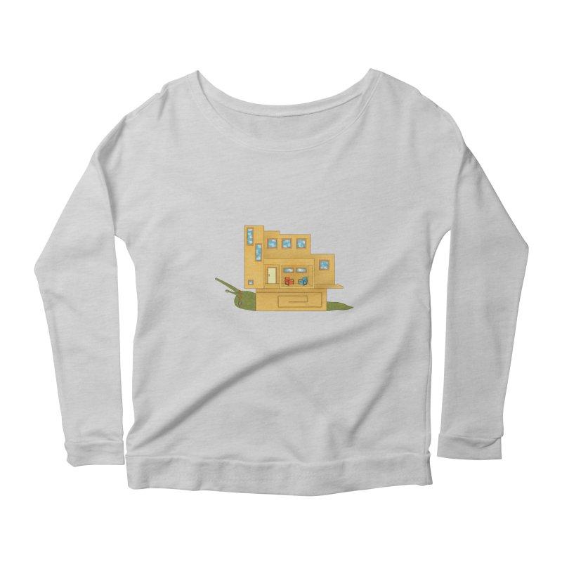 Mod Snail Women's Scoop Neck Longsleeve T-Shirt by The Art of Rosemary