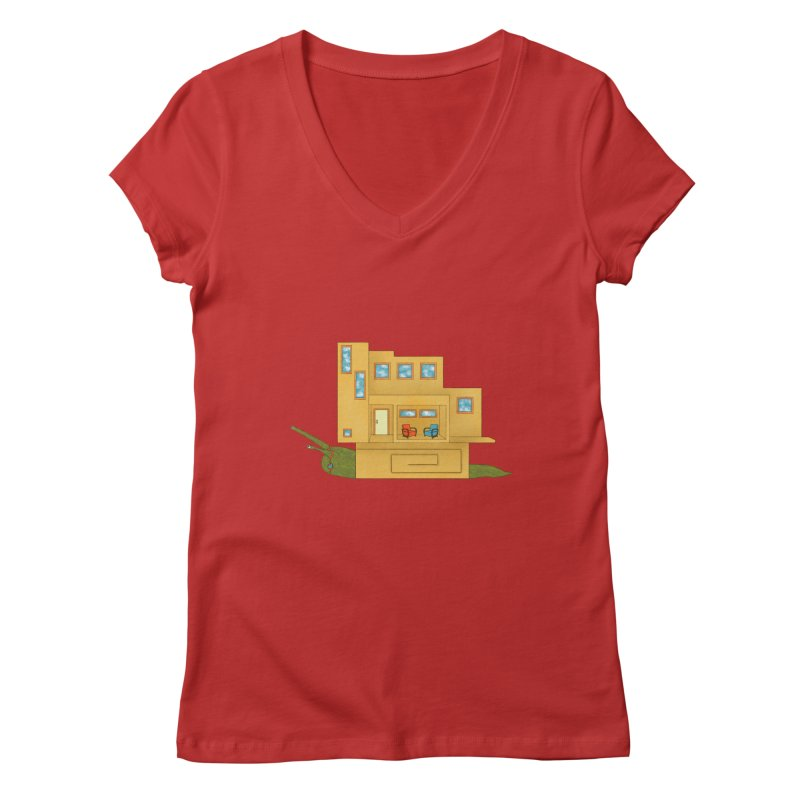 Mod Snail Women's Regular V-Neck by The Art of Rosemary