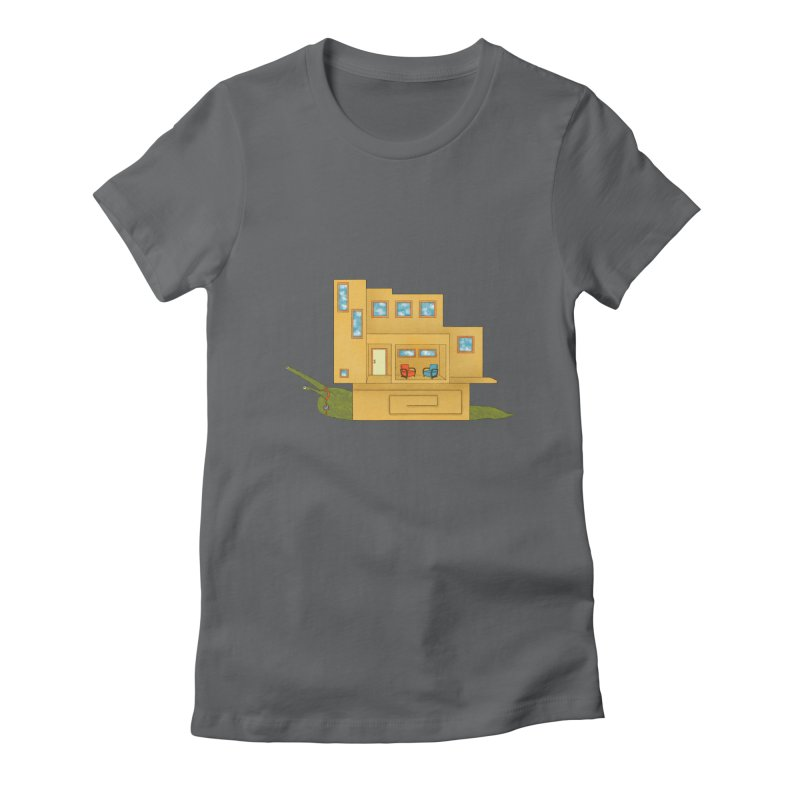 Mod Snail Women's Fitted T-Shirt by The Art of Rosemary